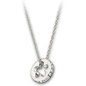 Swarovski Silver Crystal Clover Pendant Necklace
